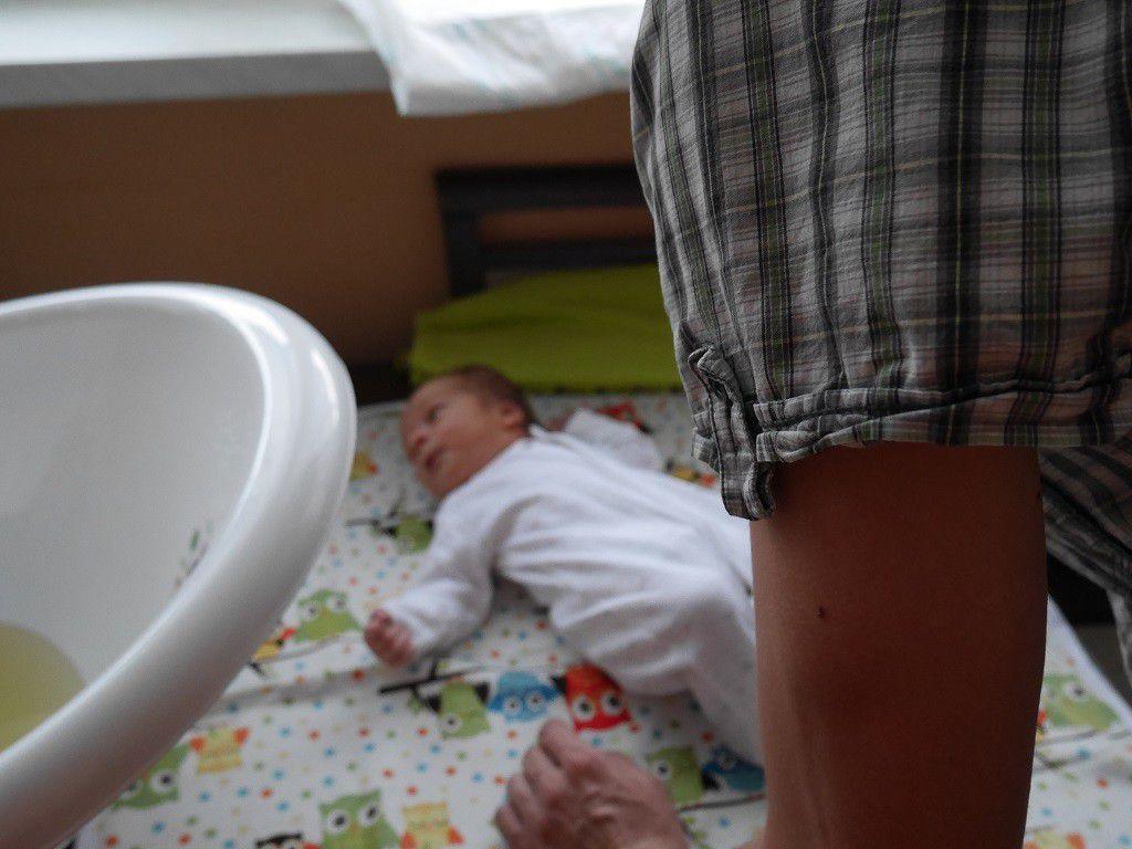 Pierwsza kąpiel noworodka