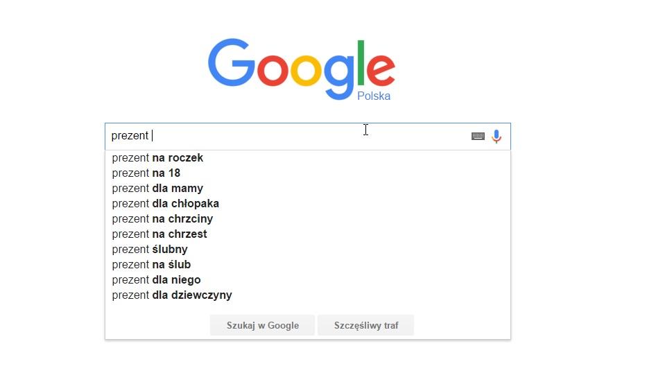 Podpowiedzi Google do pozycjonowania sklepu