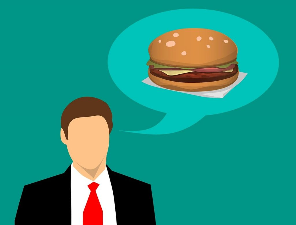 głodny pan chętnie zamówiłby coś w Twojej restauracji