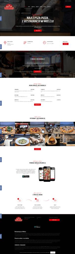 strona internetowa restauracji pizza cezar