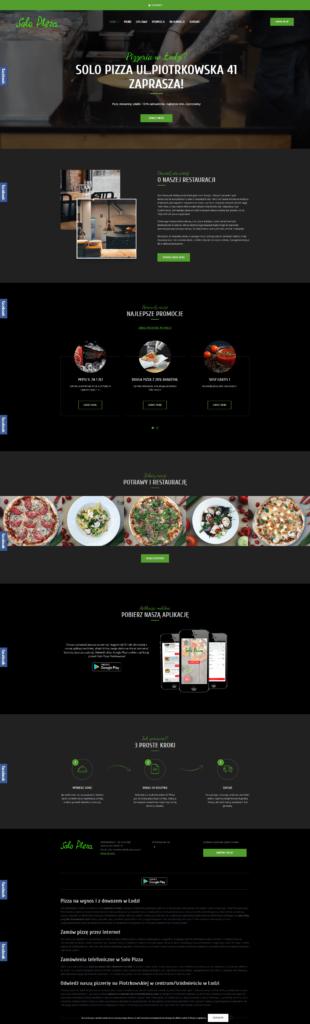 strona restauracji Solo Pizza z Łodzi