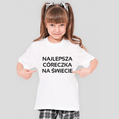 koszulka z napisem najlepsza córeczka na świecie