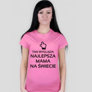 tshirt dla najlepszej mamy